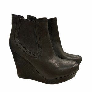 Seychelles Leather Wedge Booties